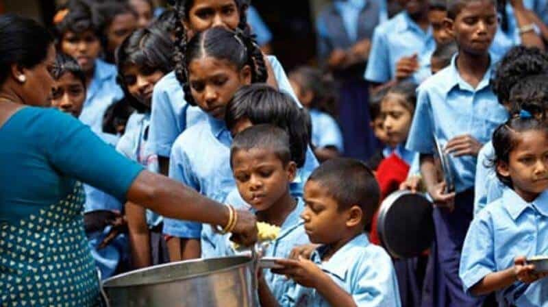 Midday meal scheme in India